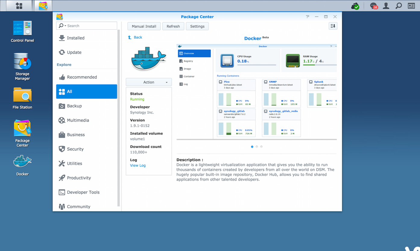 Docker on Synology